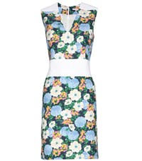 Carven Floral Printed Crepe Dress Multicoloured