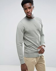Esprit Basic Crew Neck Sweatshirt Forest Green