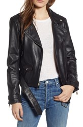 Marc New York Leather Moto Jacket Black