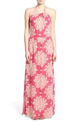 Women's Vineyard Vines 'Medallion' Silk Blend Maxi Dress