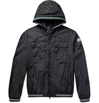 Moncler Jeanclaude Shell Hooded Jacket Midnight Blue