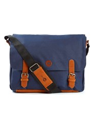 Topman Mi Pac Navy Messenger Bag Blue