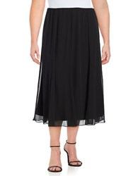 Alex Evenings Plus Chiffon Skirt Black