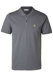 Selected Homme Shdaro Polo Shirt Iron Gate Grey
