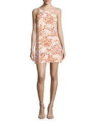 Cooper And Ella Printed Boatneck Pullover Dress Abstract Coral