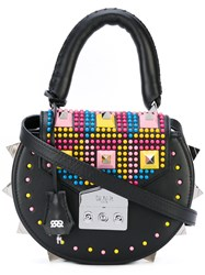 Salar Studded Round Tote Women Leather One Size Black