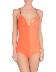 Fendi One Piece Swimsuits Orange