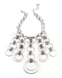 Dannijo Raj Statement Necklace Silver