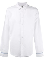 Paul Smith Ps By Monkey Print Cuff Shirt White