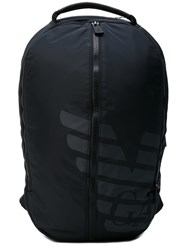 Emporio Armani Central Zip Backpack Men Polyester One Size Black