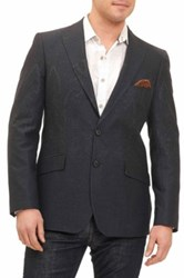 Robert Graham Antonine Two Button Peak Lapel Sport Coat Black