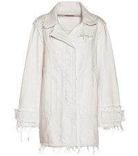 Balenciaga Denim Coat White