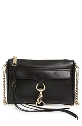 Rebecca Minkoff 'Mini Mac' Convertible Crossbody Bag Black Black Light Gold Hrdwr