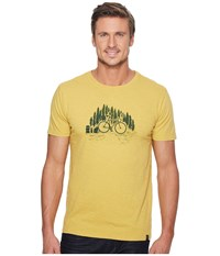 United By Blue Short Sleeve Bike Trail Cress Yellow Men's Clothing