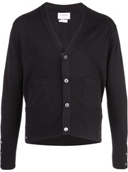Thom Browne Cashmere Buttoned Cardigan Black