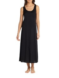 Hanro Long Tank Gown Black