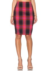 Trina Turk Crissy Pencil Skirt Red