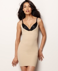 Maidenform Firm Control Slip Open Bust Body Shaper 2541 Body Beige