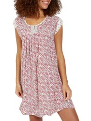 Fat Face Una Patchwork Print Dress Ivory Red