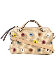 Fendi By The Way Small Embellished Boston Bag Unavailable