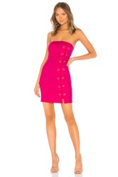 By The Way Tina Lace Up Dress Fuchsia