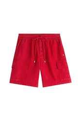 Vilebrequin Linen Shorts Red
