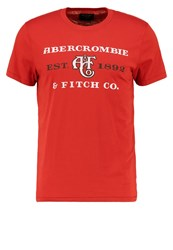Abercrombie And Fitch Sitebuster Print Tshirt Red Bordeaux