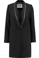 Milly Zip Detailed Wool Blend Coat Black