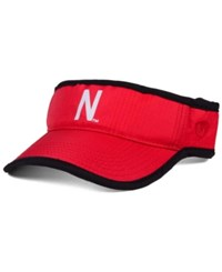 Top Of The World Nebraska Cornhuskers Baked Visor Red