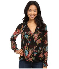 Kut From The Kloth Isabel Black Women's Long Sleeve Button Up