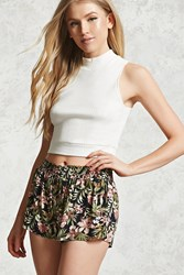 Forever 21 Tropical Floral Print Shorts