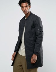 Kiomi Coated Bomber Jacket Black