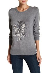 French Connection Bambi Snowflake Sweater Gray