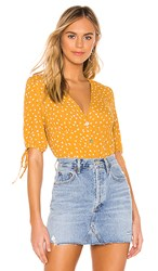 Rails Amelia Blouse In Yellow. Marigold