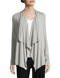 Ivanka Trump Pleated Flyaway Cardigan Grey