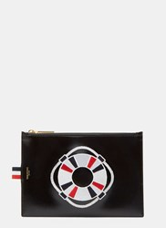 Thom Browne Embroidered Buoyancy Ring Coin Purse Black