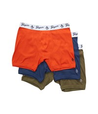 Original Penguin 100 Cotton 3 Pack Boxer Brief Burnt Olive Pack Men's Underwear Multi