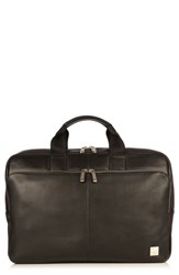 Knomo London Brompton Newberry Leather Briefcase Black