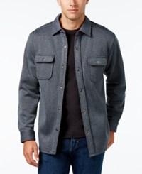 Tommy Bahama Men's Fireside Textured Shirt Jacket Coal