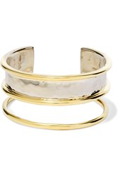 Anndra Neen Hammered Gold Plated Cuff