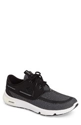Sperry Men's 7 Seas Sneaker Black White