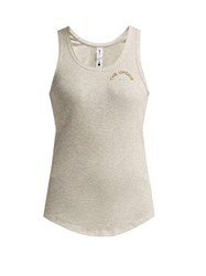 The Upside T Bar Ribbed Cotton Tank Top Grey