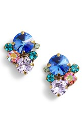 Sorrelli Assorted Round Crystal Stud Earrings Blue Multi