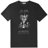 Mcq By Alexander Mcqueen No Masters Dropped Shoulder Tee Black
