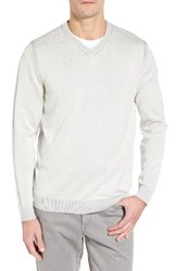 Tommy Bahama Men's Chief Island Officer Silk Blend Sweater Smoke Grey