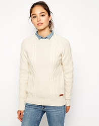 Barbour Chunky Cable Knit Jumper Cream