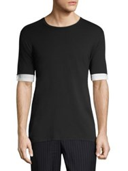 3.1 Phillip Lim Double Sleeve T Shirt Black
