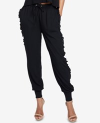 Rachel Roy Ruffled Jogger Pants Black