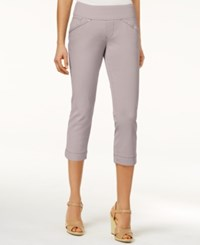 Jag Petite Marion Pull On Skinny Colored Cropped Jeans Stone