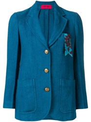 The Gigi Fitted Jacket Blue